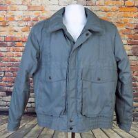 Johnny Be Good Vintage Bomber Jacket Men's Size M Gray Medium