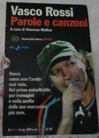 VASCO ROSSI PAROLE E CANZONI A CURA DI VINCENZO MOLLICA LIBRO PIU' DVD 2006