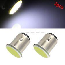 2x White 1157 BA15D 12V COB LED Car Reverse Backup Tail Brake Light Lamps Bulbs