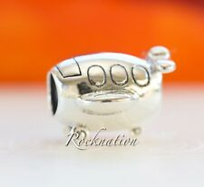 Authentic Pandora Sterling Silver Charm Airplane Sterling Silver Charm 790561