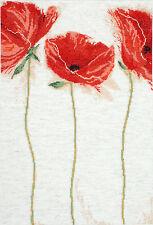 Cross Stitch Kit ~ Design Works Elegant Trio of Flamenco Poppies #DW2435