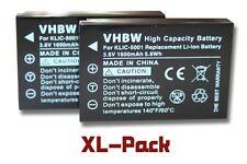 2x BATTERIE pour SANYO Xacti VPC-FH1 / HD1000 / HD1010 / HD2000 / VPC-HD2000A