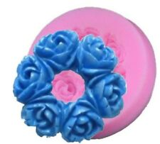 Rose Flower Wreath Mini Silicone Pan for Fondant, Gum Paste, Chocolate, Crafts