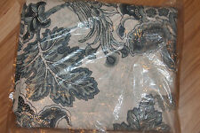 1 Pottery Barn Paige Palmampore 50 X 84 Floral Drape Blue Blackout Lining New