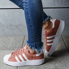 ADIDAS Superstar Bold Women's Suede Leather Sports Shoes Pink