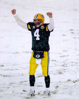 2007 Green Bay Packers BRETT FAVRE Glossy 8x10 Photo Snow Print Playoffs Poster