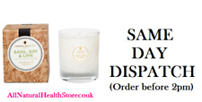Amphora Aromatics NEW Basil, Bay & Lime 40hr Pot Candle (Clear Glass Pot)