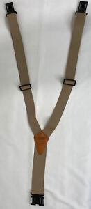 Genuine Dickies Tan Adjustable 3 Point Perry Suspenders New