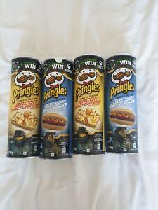 4 x Pringles New York Hot Dog/ Bacon Mac & Cheese 165g Limited Edition