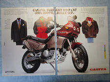 MOTOSPRINT993-PUBBLICITA'/ADVERTISING-1993- CAGIVA ELEFANT 900 CAT  (2 fogli)