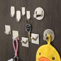 3M Self-adhesive Hooks Kitchen Bathroom Wall Door Sticky Hanger Holder Steel