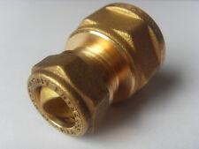 """Klemmverschraubung Kupfer Rohr 15 x 3/4"""" IG flachdichtend Kupfer - Wellrohr DN16"""