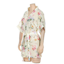 Femme Chiffon Women's Floral Printed Sexy Dress Women Robes Bathrobe Pajamas