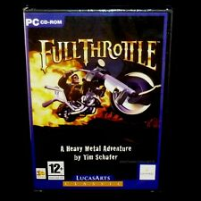 Full Throttle (PC CD Adventure Game) Lucasarts, NEW & Sealed, FREE US SHIPPING