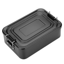 Aluminum Metal Lunch Box Double-ear Fruit Food Container Food Storage Picnic SD