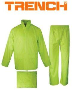 Hi-Vis Rain Jacket & Pant Set - Fluoro Lime