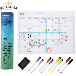 Magnetic Monthly Fridge Planner A3 Whiteboard Calendar from The Classy Planner