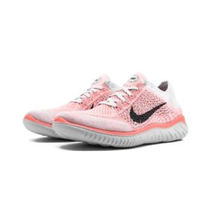 NEW Nike Free Rn Flyknit 2018 942839-800 Women's Shoe Size 8 Crimson Pulse Black