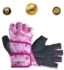 Ladies Weight Lifting Gloves Training Gym BodyBuilding Fitness Workout Straps