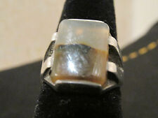 S38 vintage sterling silver onyx mens ring jewelry size 9 1/2