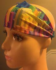 Rainbow Blocks Wide Headband NWT