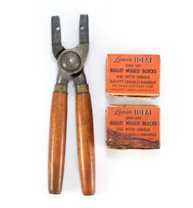 Vintage Lyman Ideal Bullet Mold Tool & 2 Sets of Blocks • 30 Cal. Ball & 44/100?