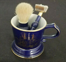 Shaving Mug w/ Razor & Brush - Ship Artwork on each piece: Select Merchandise Co