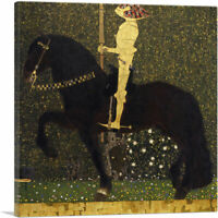 Life is a Struggle - The Golden Knight 1903 Canvas Art Print by Gustav Klimt