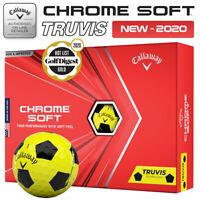 Callaway Chrome Soft Truvis Golf Balls Dozen Pack Yellow/Black - NEW! 2020