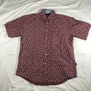 Tommy Hilfiger Floral Button Down Short Sleeve Men's Size XL
