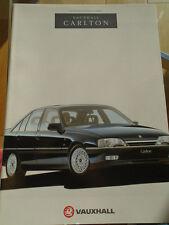Vauxhall Carlton range brochure 1991 Ed 1