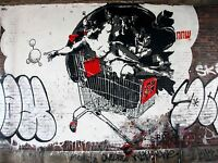 ART PRINT POSTER PHOTO GRAFFITI MURAL STREET GOD SHOPPING NOFL0218