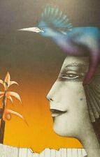 "PAUL WUNDERLICH 1985 ""BACKYARD BIRD"" ORIGINAL SIGNED LITHOGRAPH 373/1000"