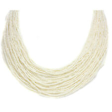 6651637c18dc Agua Salada Akoya Keshi Perla Multi Fila Collar de Diamantes
