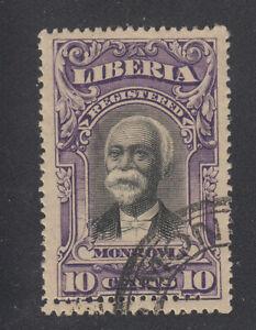 Liberia # F13 CTO DOUBLE Horizontal Perforations1903 Registration Set
