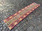 Patchwork rug, Handmade wool rug, Runner rug, Turkish rug   1,8 x 7,8 ft