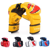 10oz MMA Boxing Gloves Sparring Grappling Gloves Training Mitts Fighting Punch L