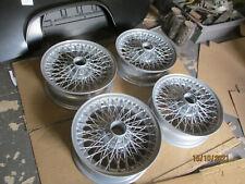 Set of 4 rebuillt silver wire wheels 5.5J x 15 inch 72 spoke Healey TR6 kitcar?