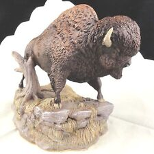 """BISON Nature's Window made in Canada 7"""" NEW NEVER SOLD Porcelain by Yves Chabot"""
