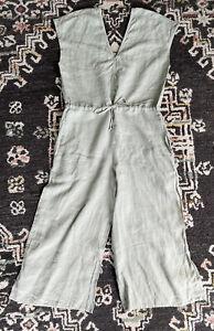 Cloth & Stone Sage Linen Wide Leg Jumpsuit Size S