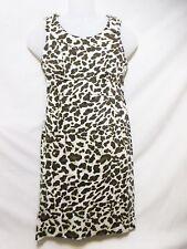 JONES NEW YORK Signature Petites Sheath Style Dress Petite 6P Sleeveless Leopard