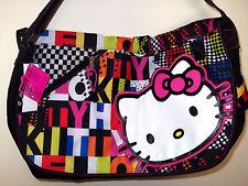 """New HELLO KITTY  Girl's   Bag Handbag Tote  Messenger 17x11x5""""  Black"""