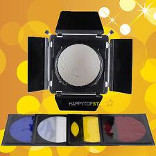 4 Color BARN DOOR & Honeycomb for Photography Flash Studio Flash Bowens Mount