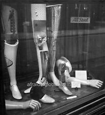 Photo. 1946. London, UK.  Artificial Limbs in Store Window After WW2