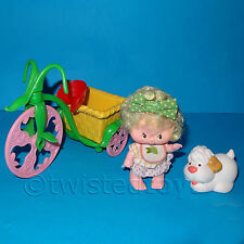 Vintage 1983 Kenner Strawberry Shortcake Poupée Ada & sucre woofer + berry-cycle