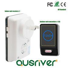 Wireless Door Bell Kit Plug In Touch Screen Chimes Alarm Smart Doorbell