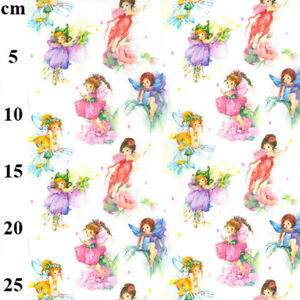 Fairies fairy pretty children baby 100% Cotton Craft Kids Fabric Material Metre
