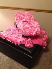 Fleece Infant Car Seat Cover, Blanket & Hat~ NEW Pink Floral Camo