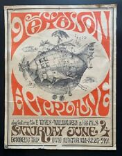 Jefferson Airplane Concert Poster 1966 Civic Auditorium