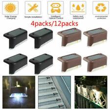 24PCS Outdoor LED Solar Fence Wall Lights Step Path Decking Garden Safe Lamp UK